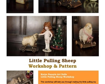 Little Pulling Sheep Workshop And Pattern