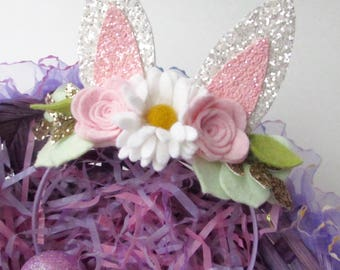 Easter Bunny Headband - Easter Headband - Easter Bunny Ears Headband - Bunny Ears Headband