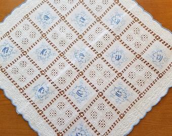 Embroidered Openwork Handkerchief  #83