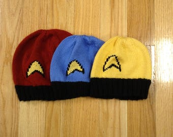 Star Trek: The Original Series Winter Hat/Beanie in Three sizes S,M,L