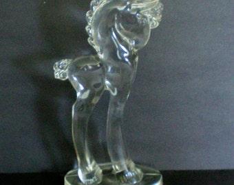 Paden Glass Large Pony Glass Horse Figurine - 3804