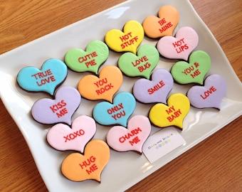Conversation Hearts Cookies