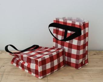Set of 2 reusable lunch bag. Adult lunch bag. Reuse sandwich bag. Lunch bag. Zero waste. School supply