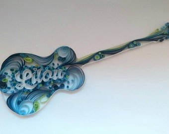 Pattern guitar with name without a frame