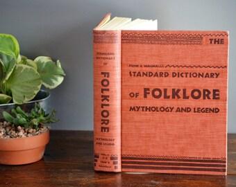 Standard Dictionary of Folklore Mythology & Legend Funk's Wagnalls Volume Two J-Z/ Vintage Hardcover