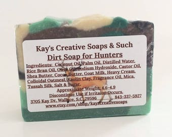 Deer Soap - Dirt Scented Soap - Hunting Gifts for Men - Deer Hunting Gifts - Hunters Gift - Men Soap - Hunters Soap - Garden Dirt Soap
