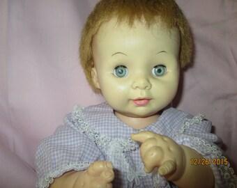 "Vintage Effanbee  17"" Sugar Plum Baby Doll - 1969"