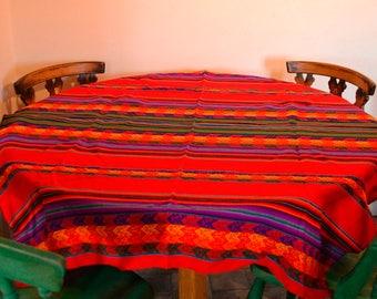 Big peruvian Manta, multi-purpose blanket, blanketTraditional, Blanket Native South American Textile Peru Manta woven fabric
