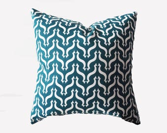 Pillow Green White Decorative Geometric Square Pillow Case