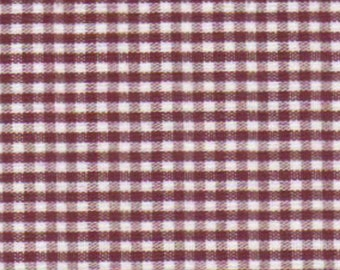 Fabric Finders brand 100% cotton gingham fabric, Crimson, Maroon, yard