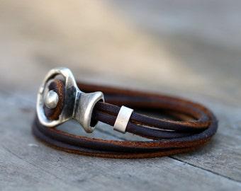 Bohemian leather wrap bracelet, womens bracelet,  handmade, leather jewellery, womens leather bracelet, red bracelet Anniversary Gift