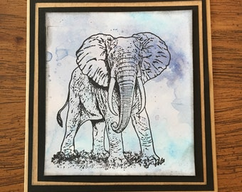 Elephant Cards - Blue - All Occasions - Elephant Lover
