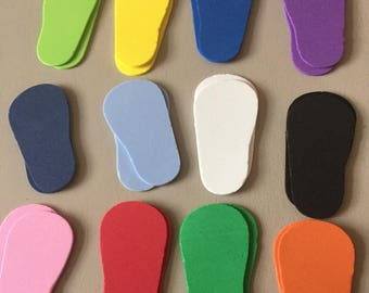 "12 Pair of Foam Shoe Soles for 18"" Dolls"