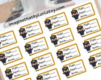 Flight tracker planner stickers