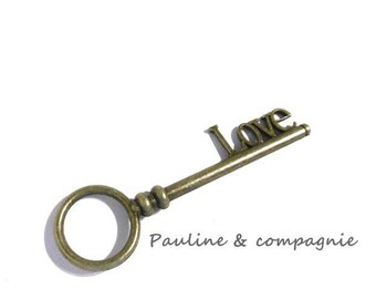 1 key bronze pattern LOVE