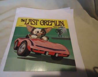 Vintage 1984 Warner Bros The Last Gremlin Story 5 Record Book 33 1/3, collectable, music, gremlins