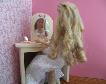 Sale: Barbie Vanity  with Stool, Scarf and Cosmetics