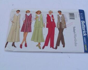Butterick Pattern 5149 Todays Wardrobe Misses Vest Jumper Skirt Pants Date: 1997