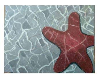"Giclee print of Original Acrylic Artwork - ""Down Under"""