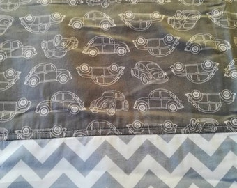 Toddler blanket - Quilt Cover - Kids blanket - Flannel Blanket - Boys blanket - cotton blanket- Summer Blanket - Travel blanket - Beetle VW