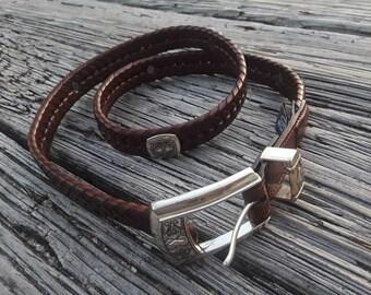 Vintage Brighton belt, leather belt, size 34 belt