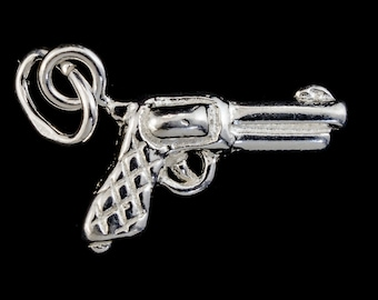 14mm Sterling Silver Six Shooter Charm #BSB045