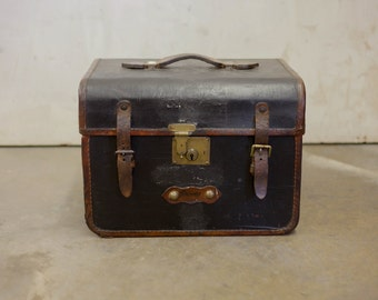 1880's English Leather Touring Trunk