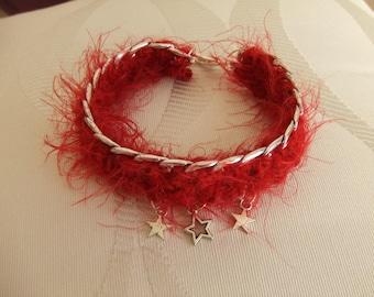 Double chain necklace, silver bracelet