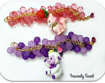 Lamb Charm Bracelets Jewelry Purple Kawaii Animal Toy