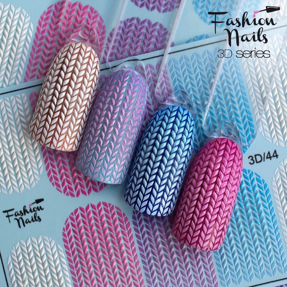 3D nail decal Сharms nail water transfer Nail sticker Nail wraps 3 d ...