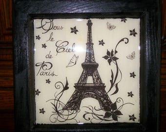 """FRAME """"under the paris sky"""""""