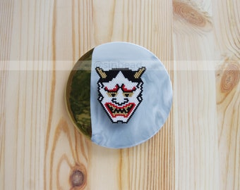 Hannya Brooch Japanese Mask