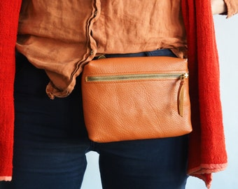 Leather Bumbag Waist Pouch Hip Bag Crossbody Bag Shoulder Bag