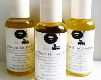 3 oz all natural hair growth oil 4 bottles