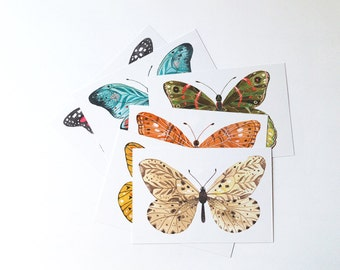Butterflies postcards - set of 6