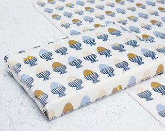 Boiled Eggs Wrapping Paper - A2 Sheets, Eco Gift Wrap