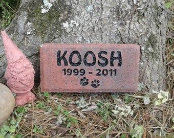 Pet memorial dog or cat sandcarved river stone