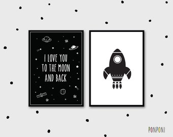 Outerspace Boy Bedroom Pictures, Outerspace Theme Baby Boy Nursery, Outerspace Wall Art, Rocket wall art, rocket kids wall art