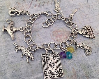 Arabian Princess Charm Bracelet - Fairytale Jewelry - Once Upon A Time Jewelry - Princess Jewelry - Fairytale Bracelet
