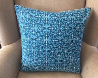 "Large Cushion Cover/Pillow in ""NOVELLA, Heart de Flur by Valori Wells for FreeSpirit with an EST Linen Backing."