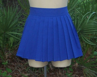 Pleat Skirt - Anime Cosplay Custom Mini Skirt - Knife Pleat Skirt - Japanese Anime School Uniform Pleat Mini Skirt - Any Size / Any Colors