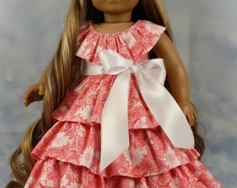 18 Inch Doll Clothes Pink Easter Hawaiaan Dress  for American Girl Doll Kanani Nanea