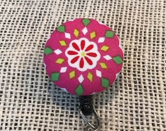 Floral button badge reel!