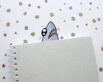 Shark Bookmarker, Bookish, Book Lovers Gift, Funny Shark, Ocean Lover Gift, Reader Gift, Gift for Her, Funny Sea