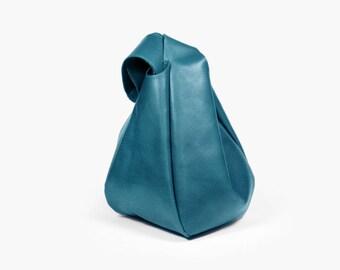 "Blue Leather Wristlet Bag ""Bonica Aqua"", Wristlet Wallet, Sky Blue Phone Wristlet, Leather Clutch"