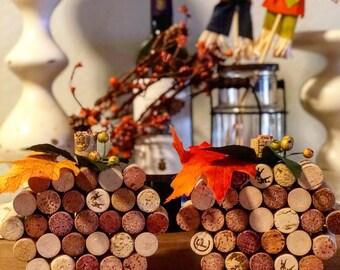 Wine Cork Pumpkins - Fall Decor - Halloween Decor - Repurposed Wine Corks - Wine - Pumpkins