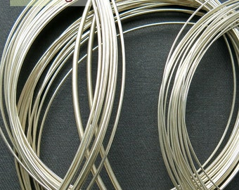 Round wire, fine silver, Ag999, 5 meters (from 0.6 to 0.9mm)