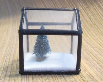 "Glass House Terrarium ""Tree House"""