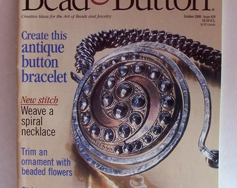 Bead and Button Magazine October 2000, Number 39, Beaded Sandals, Clay and Other Beaded Projects, Bitcoin Accepted