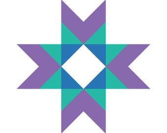 Quilt Block Collection Pattern - Santa Ana Star